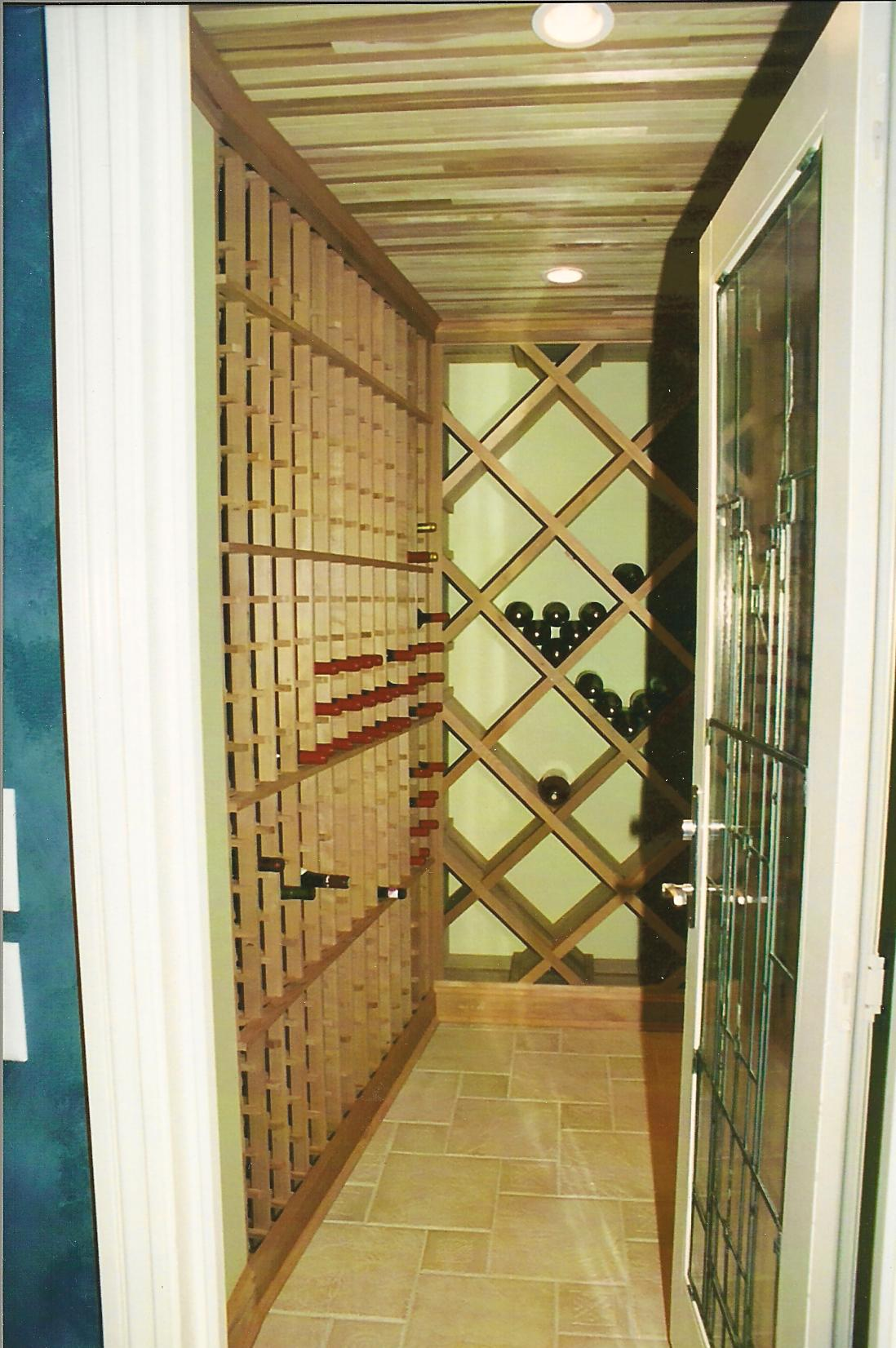 Wine Cellar in a Finished Basement Design