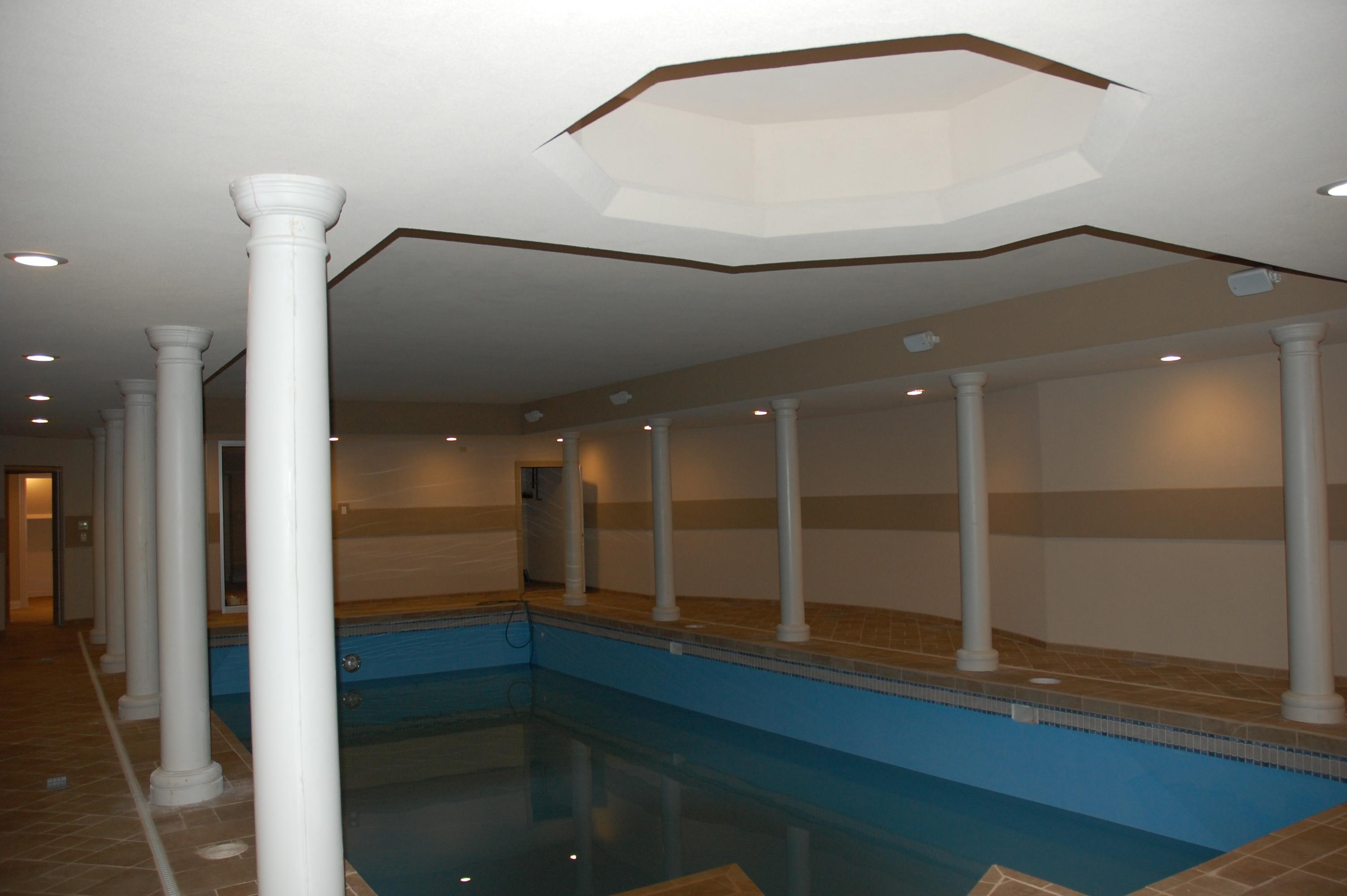 Custom Built Pool in the Basement