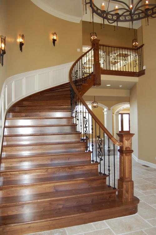 Custom Walnut Staircase